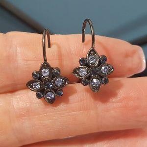 Blue n White Crystal Earrings